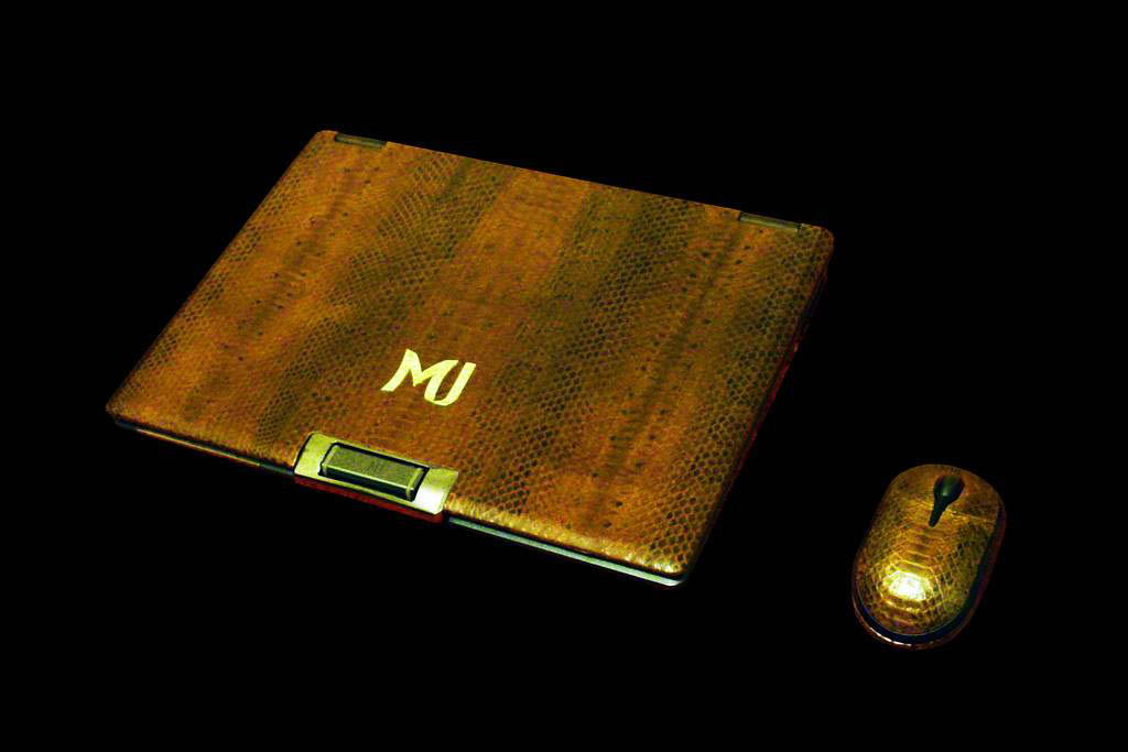 Laptop MJ Gold Leather Edition - Sea Snake Skin (SingleCopy Notebook & Wireless Luxury Mouse)